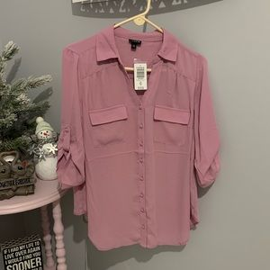 NWT- Torrid purple button down blouse